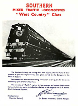 West Country Class Leaflet - Front