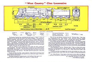 West Country Class Leaflet - Inside